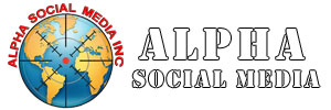 Alpha Social Media® Inc Retina Logo